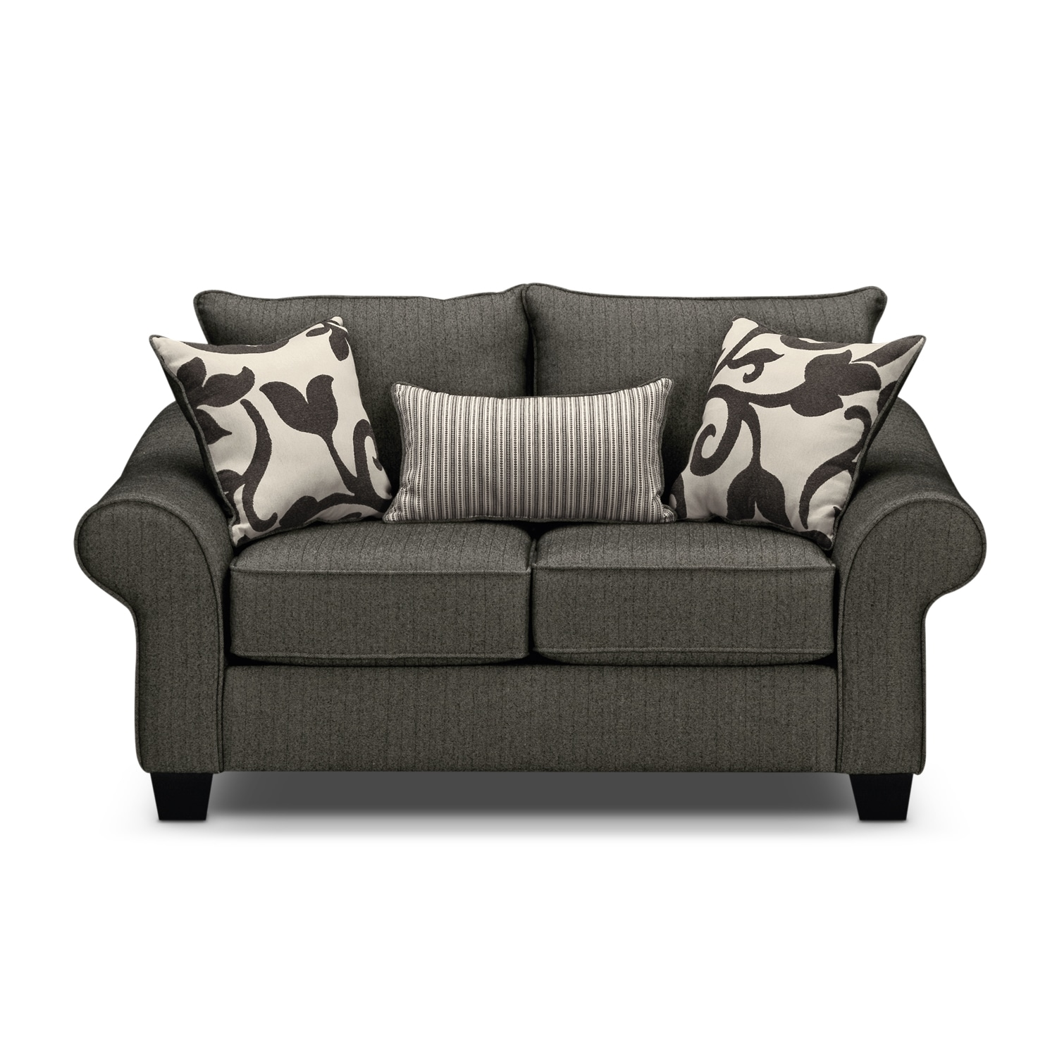 Colette loveseat gray american signature furniture for American signature couch