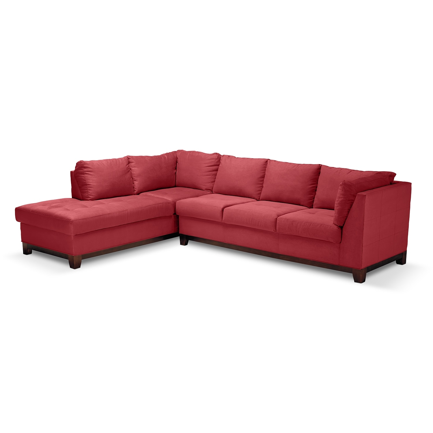 Soho 2 pc sectional reverse american signature furniture for Signature furniture