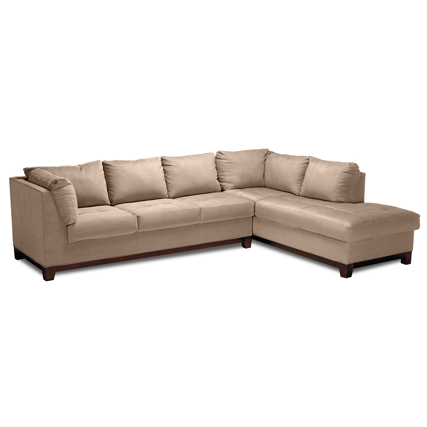 Soho ii 2 pc sectional american signature furniture for American signature couch