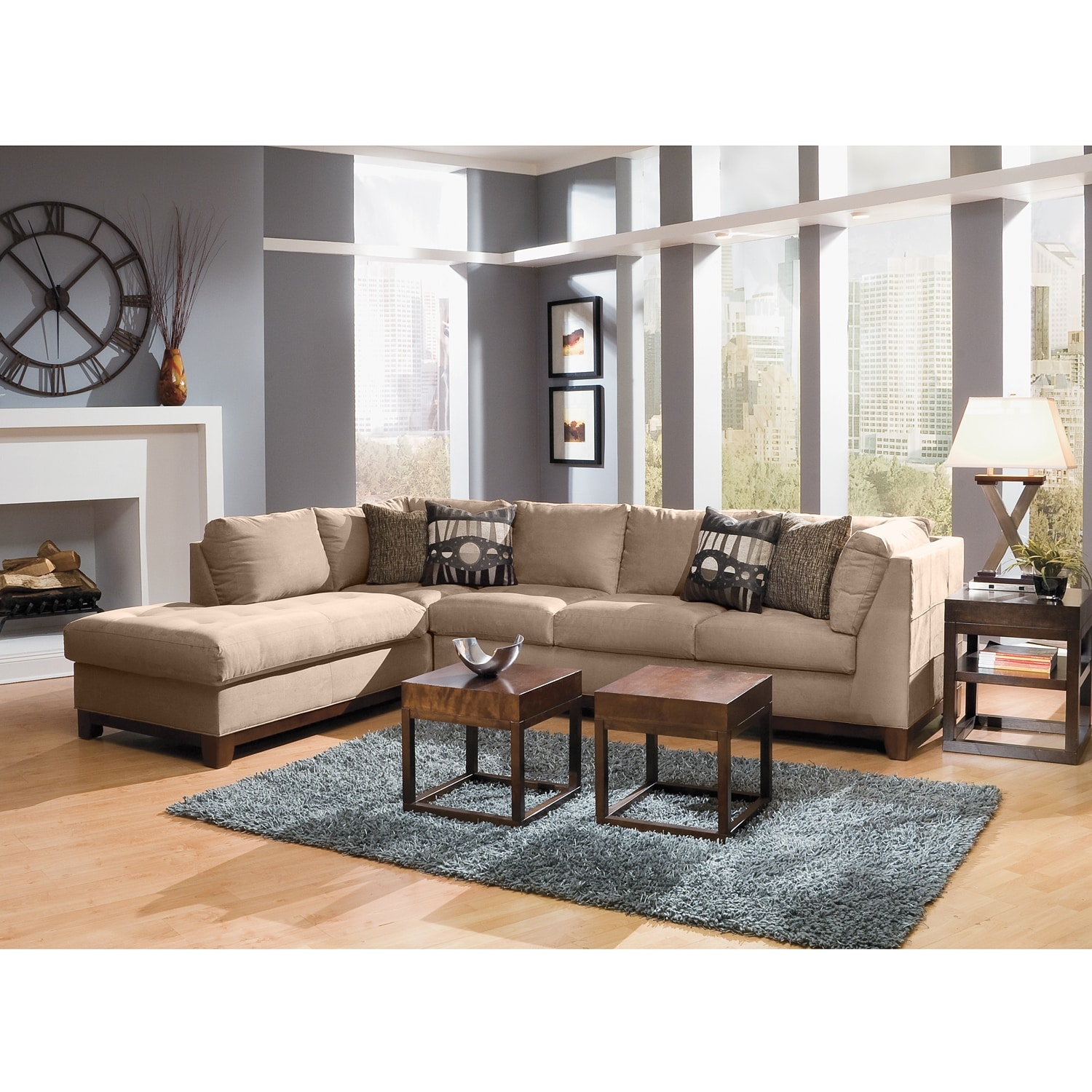 Soho II 2 Pc Sectional Reverse American Signature Furniture