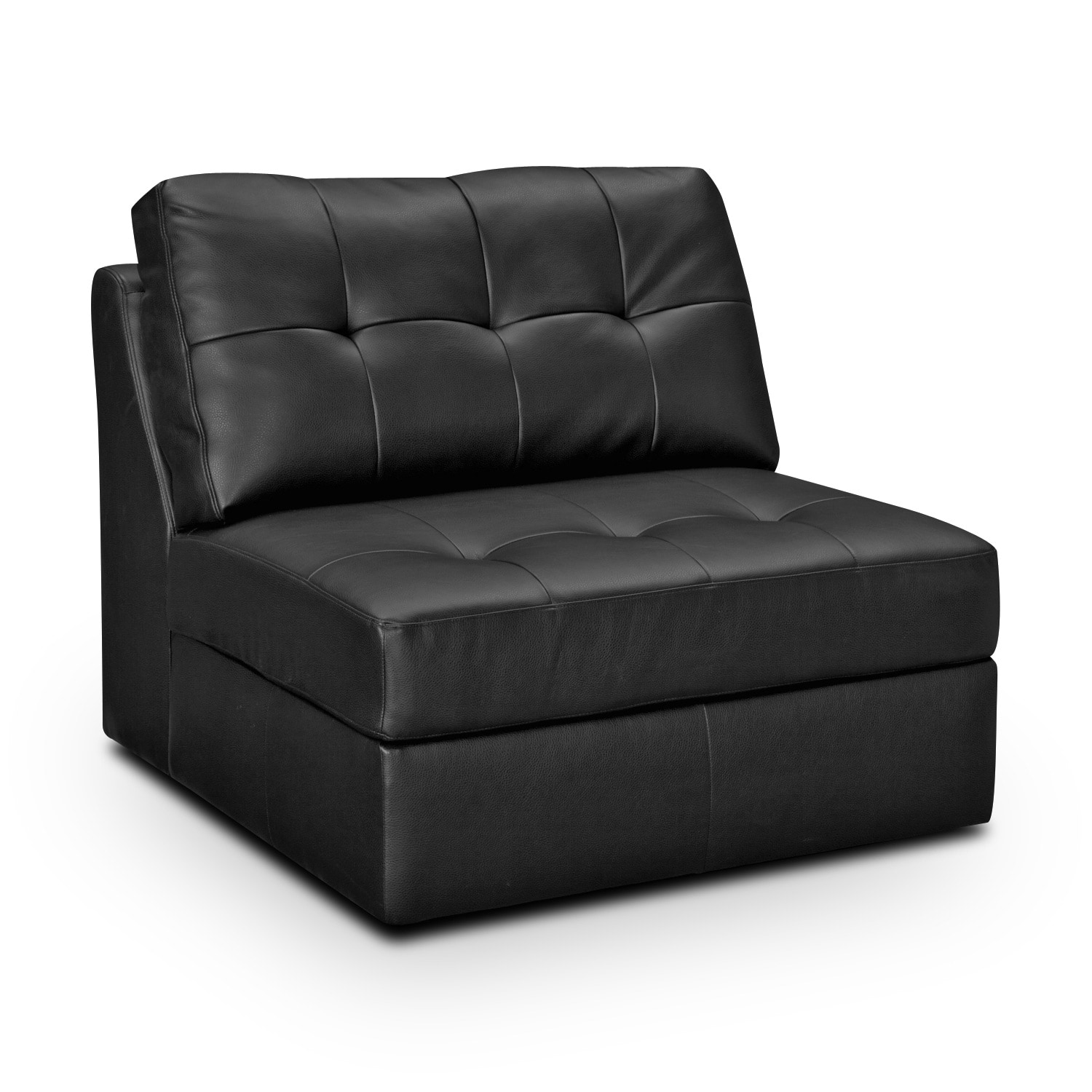 Largo black armless chair for Armless living room chairs