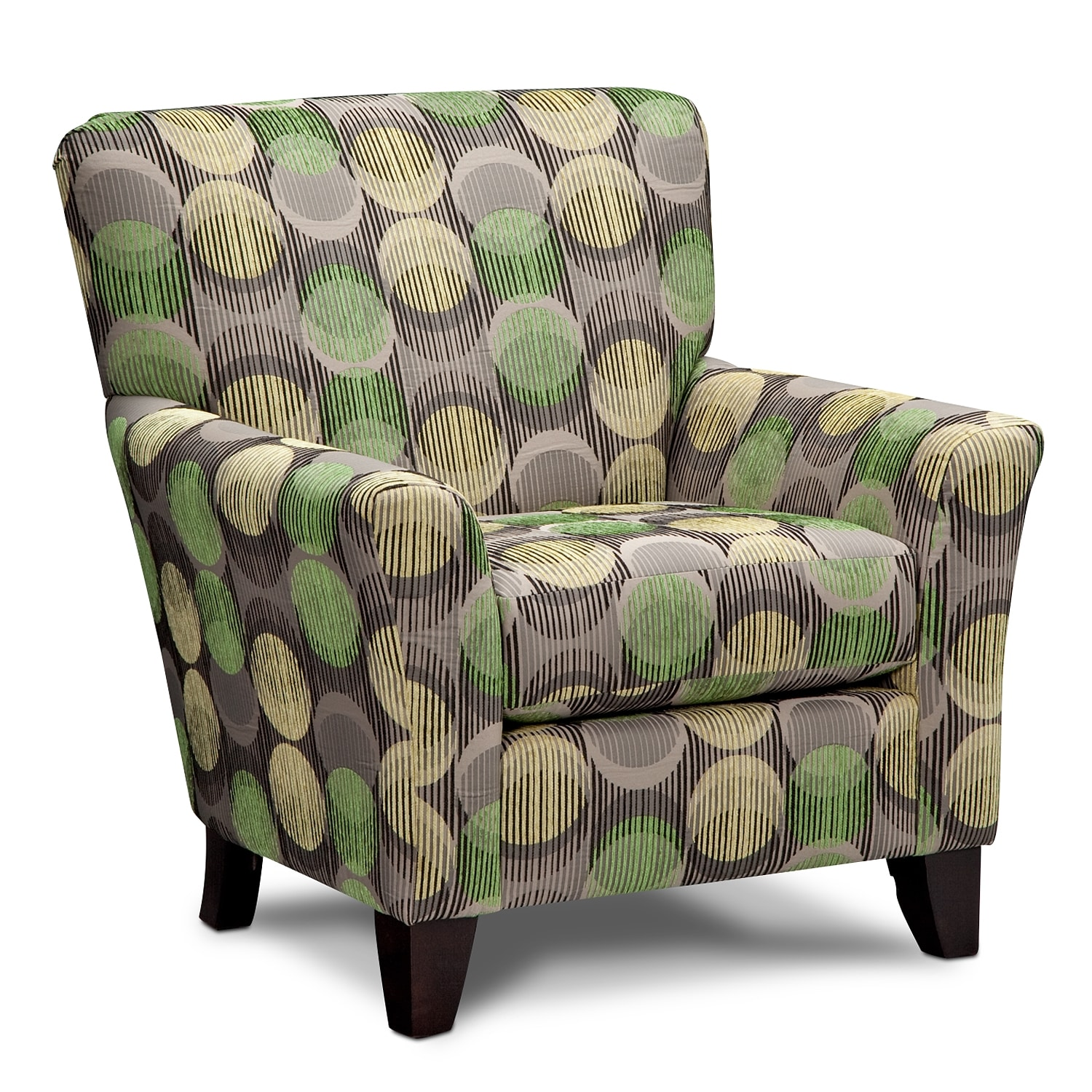 Orleans gray upholstery accent chair for Living room accent chairs