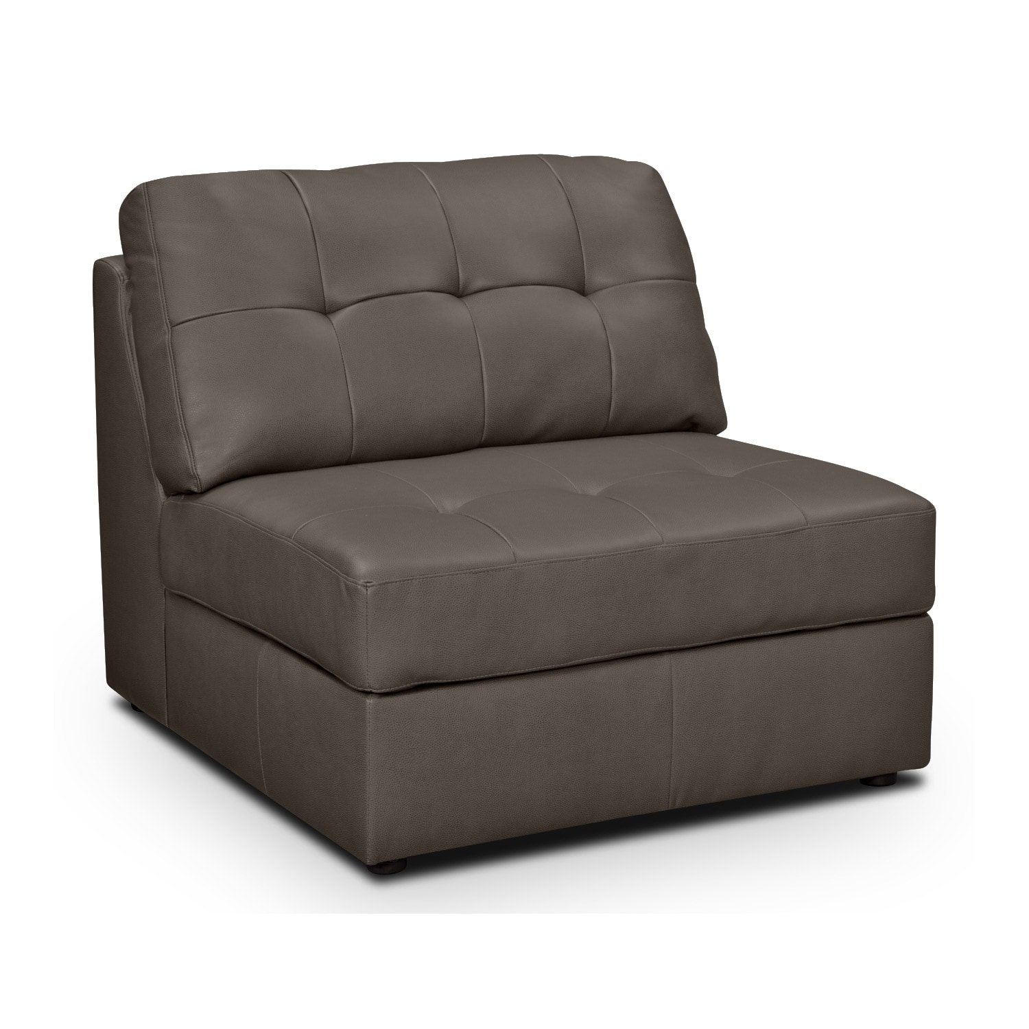 Aventura Iii Leather Armless Chair Value City Furniture