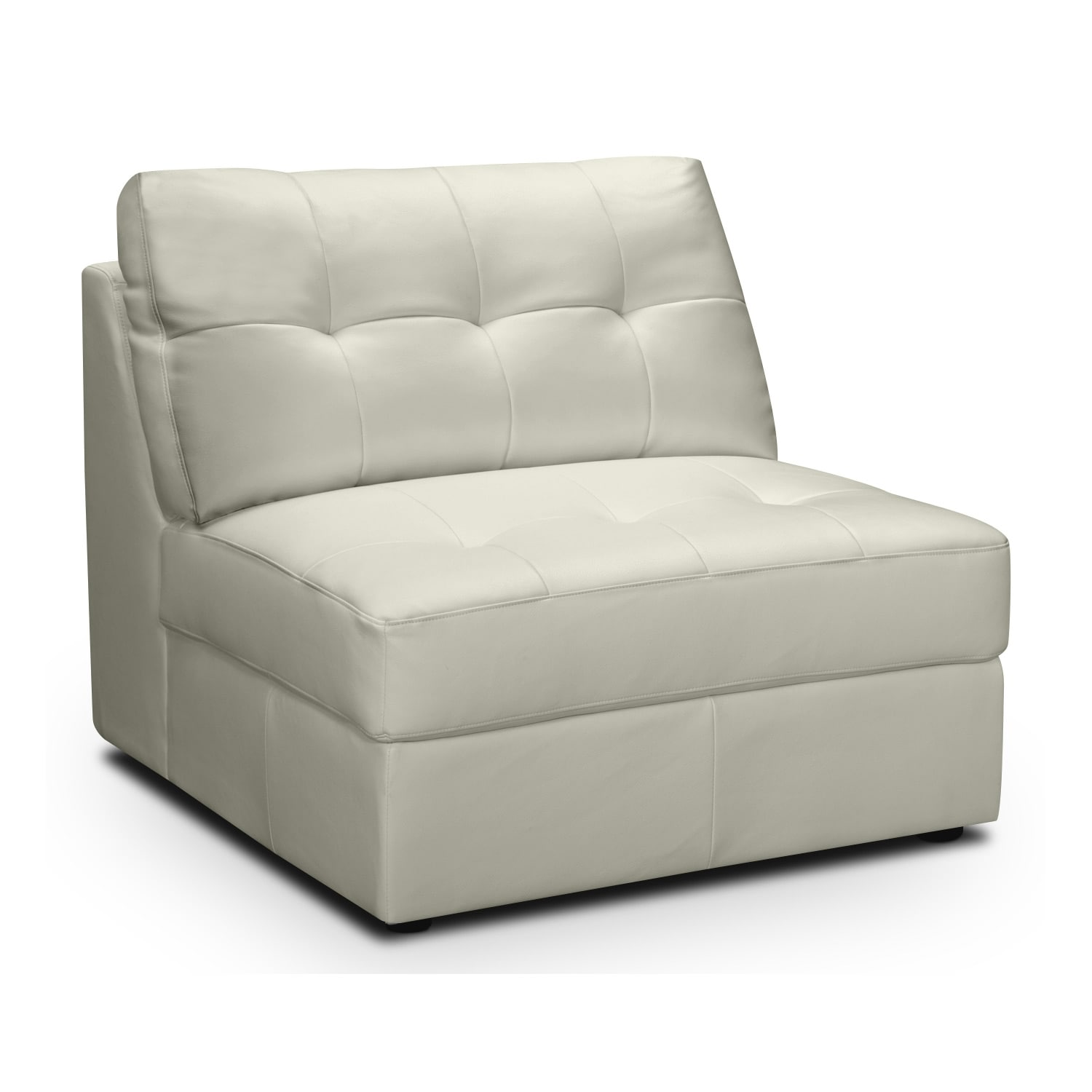 Living Room Furniture - Largo White Armless Chair