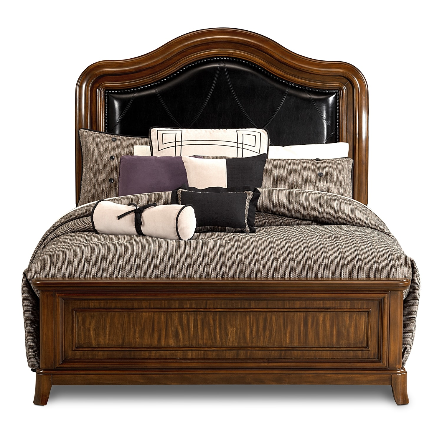 Kingston bedroom queen bed value city furniture for Furniture kingston