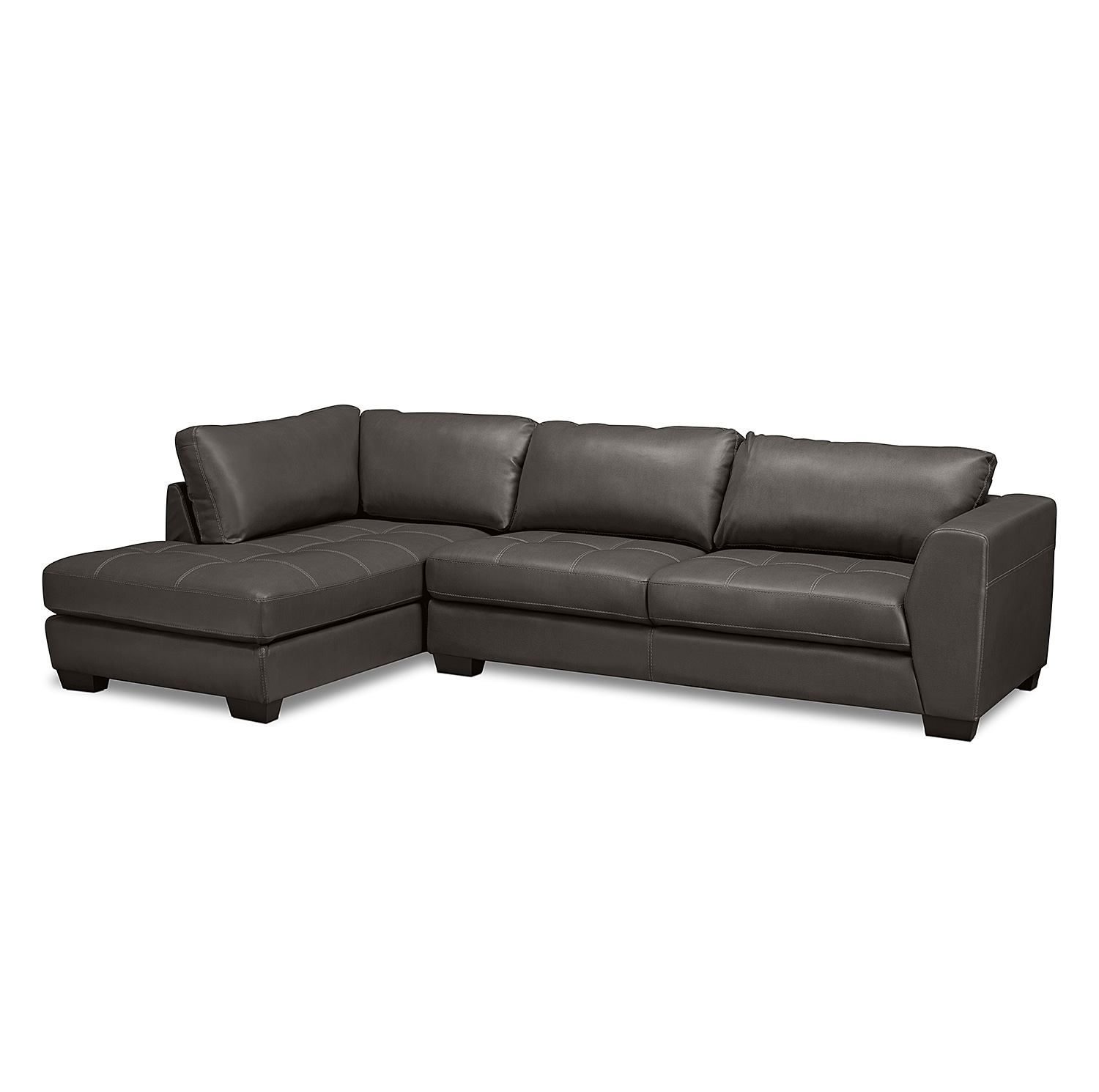 Ciera Iv Leather 2 Pc Sectional Value City Furniture