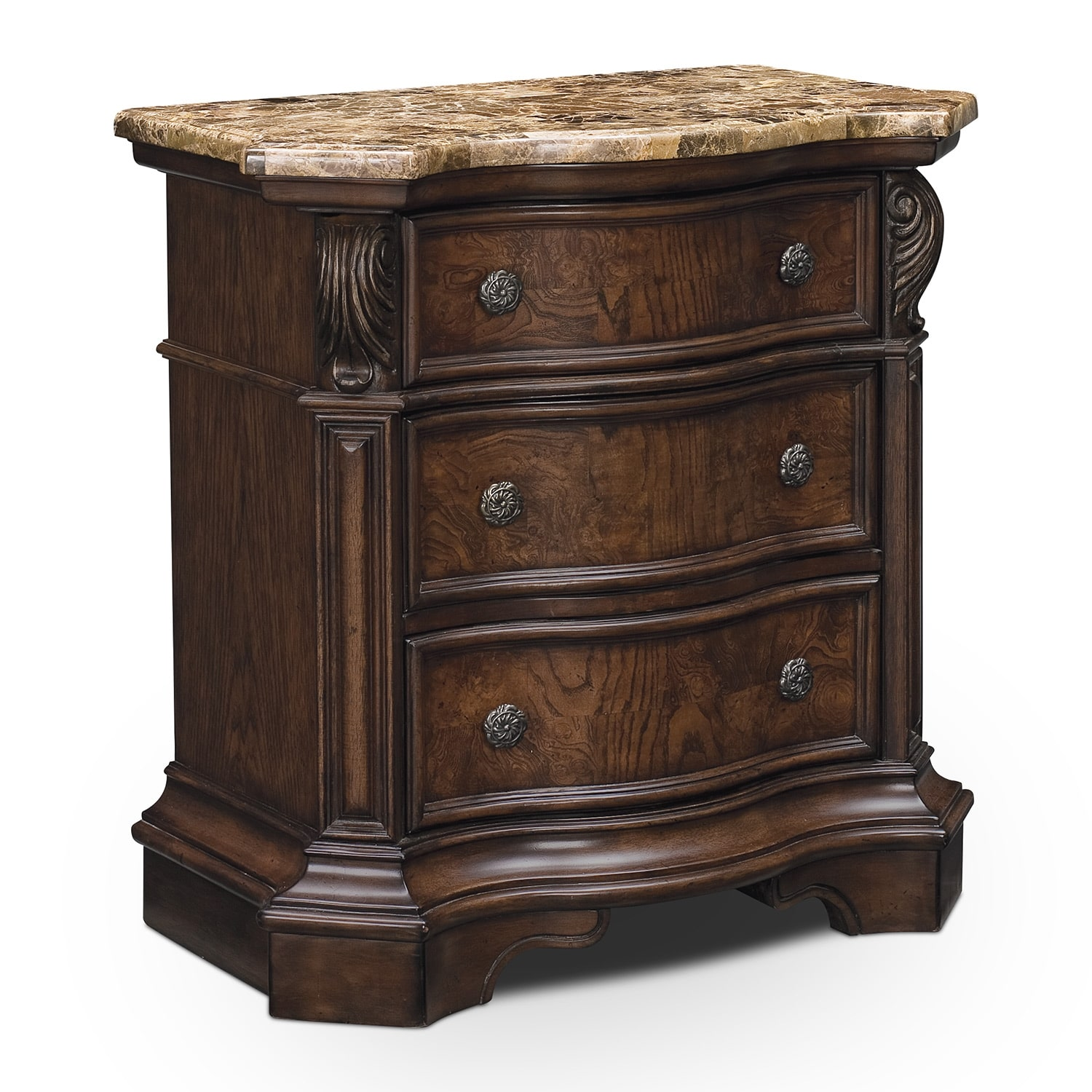 Monticello Pecan Nightstand Value City Furniture
