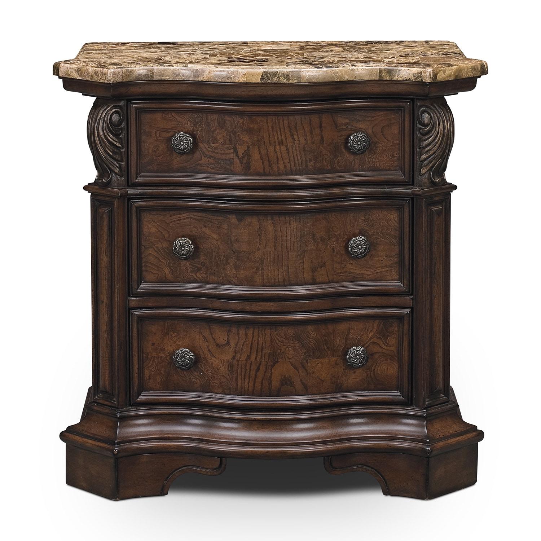 Monticello Nightstand Pecan American Signature Furniture