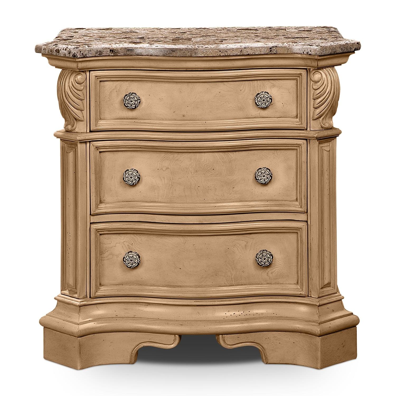 monticello almond bedroom nightstand value city furniture