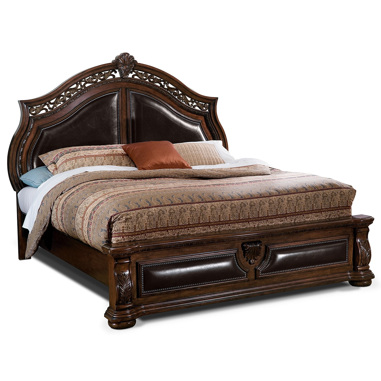 Morocco queen bed american signature furniture for Bedroom furniture beds