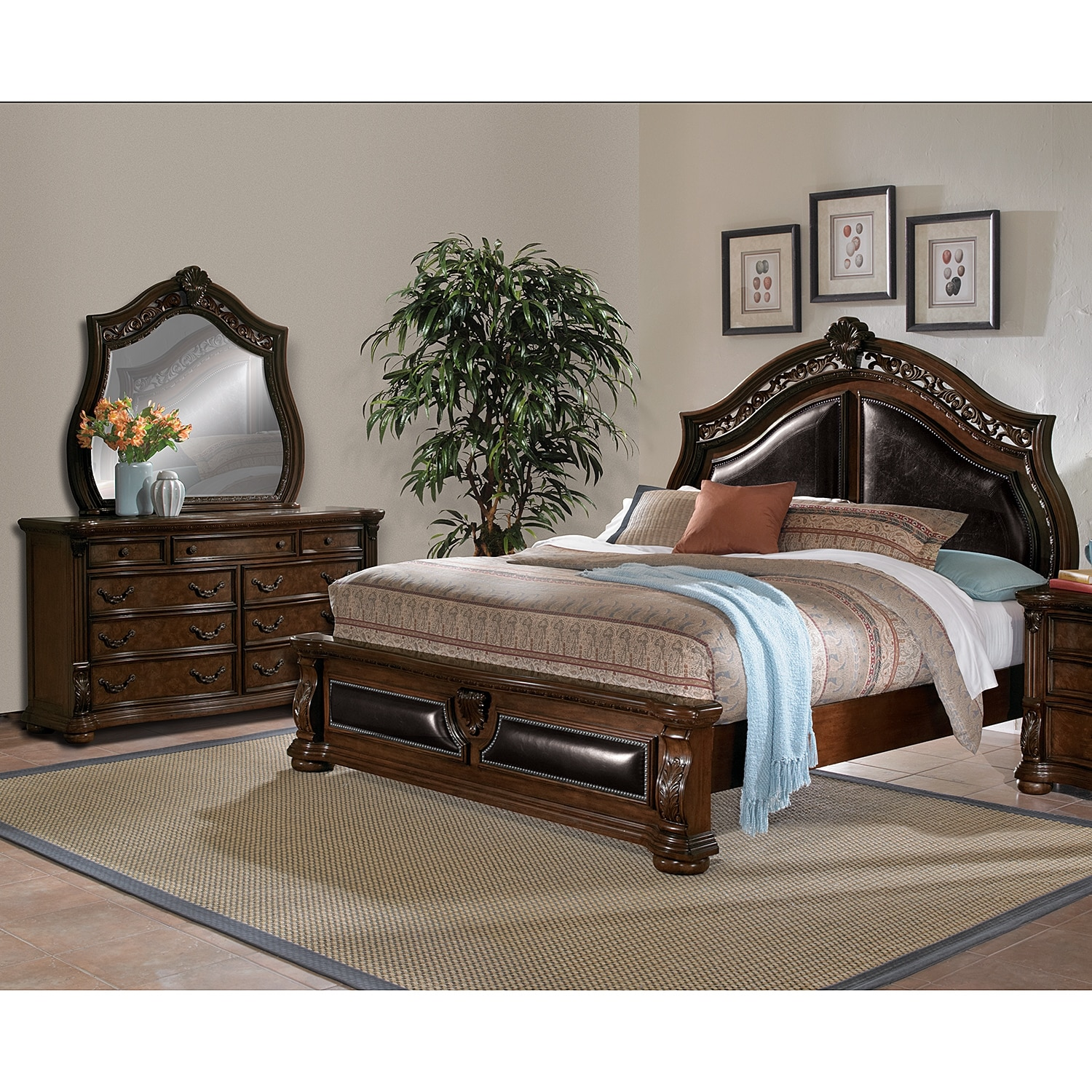 Bedroom Furniture-Morocco 5 Pc. King Bedroom