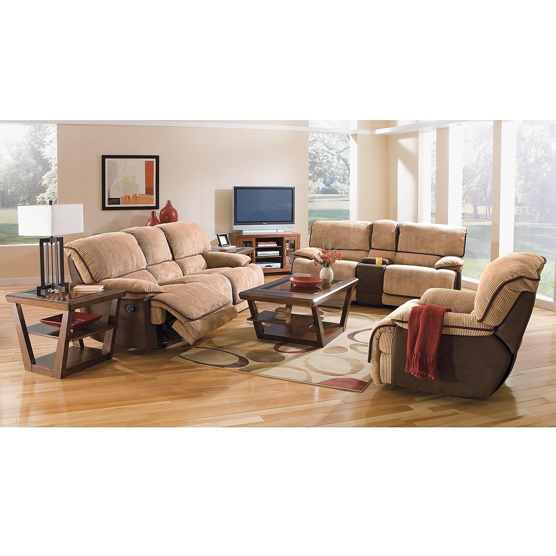 Laguna Dual Reclining Sofa Camel Value City Furniture