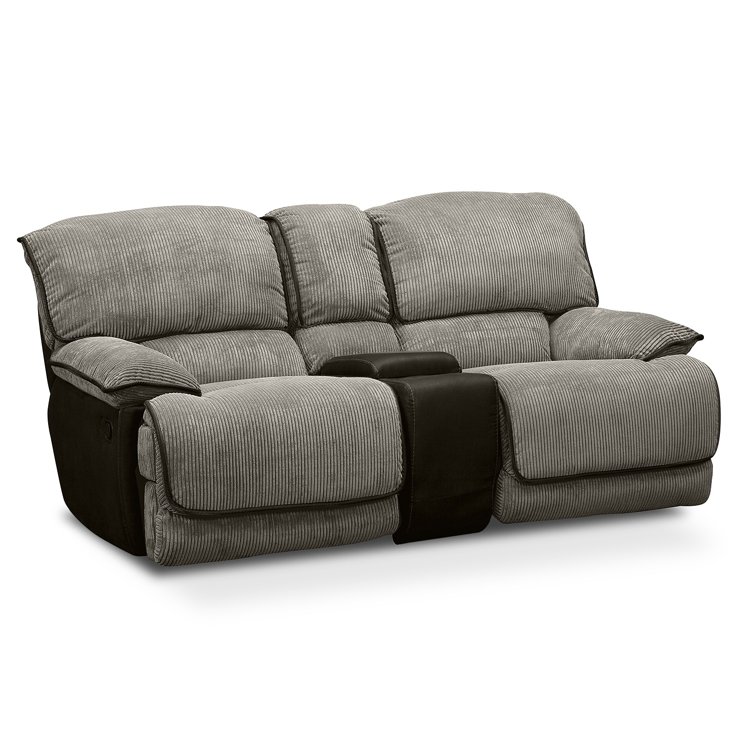 laguna gliding reclining loveseat steel value city