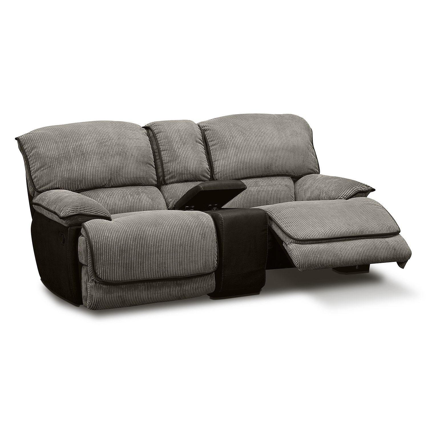Laguna Gliding Reclining Loveseat Steel American Signature Furniture