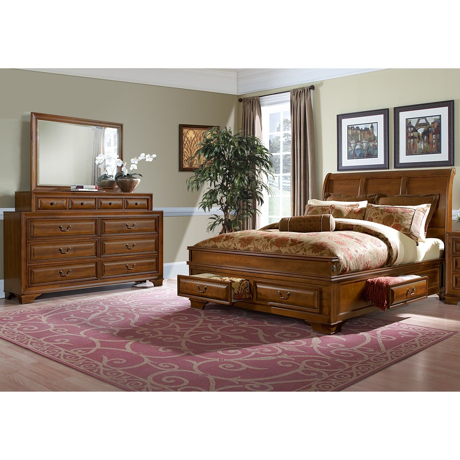 Toronto 5 Piece King Storage Bedroom Set: Sanibelle 5-Piece King Storage Bedroom Set