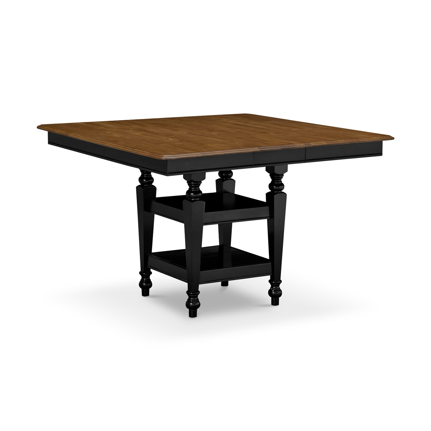 Mystic dining room counter height table value city for Counter height dining table