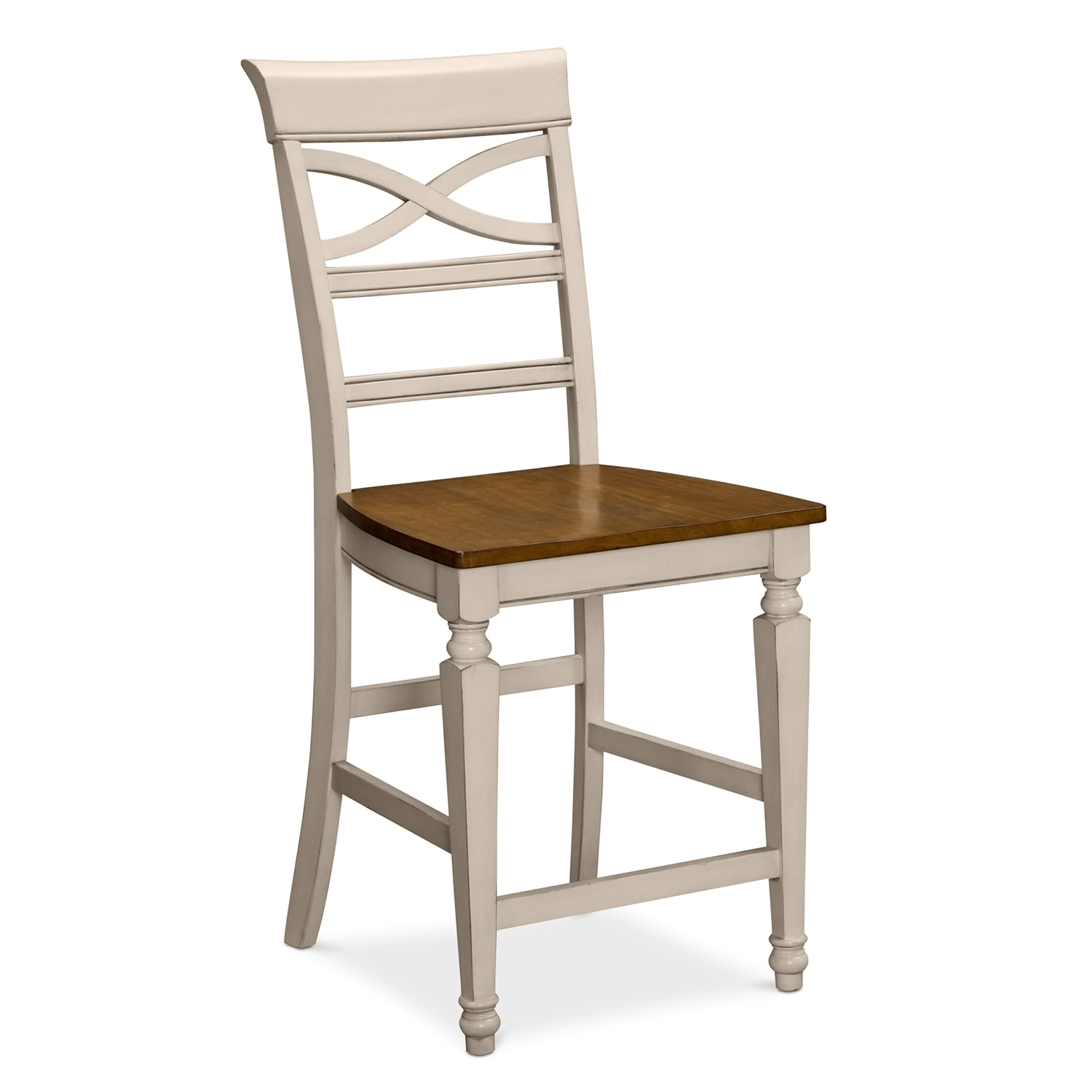 Chesapeake ii dining room counter height stool value city furniture - Average height of bar stools ...