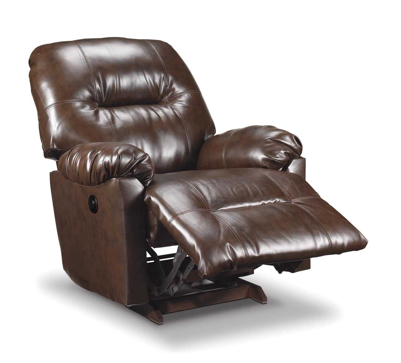 Living Room Furniture - Briar Power Recliner - Brown