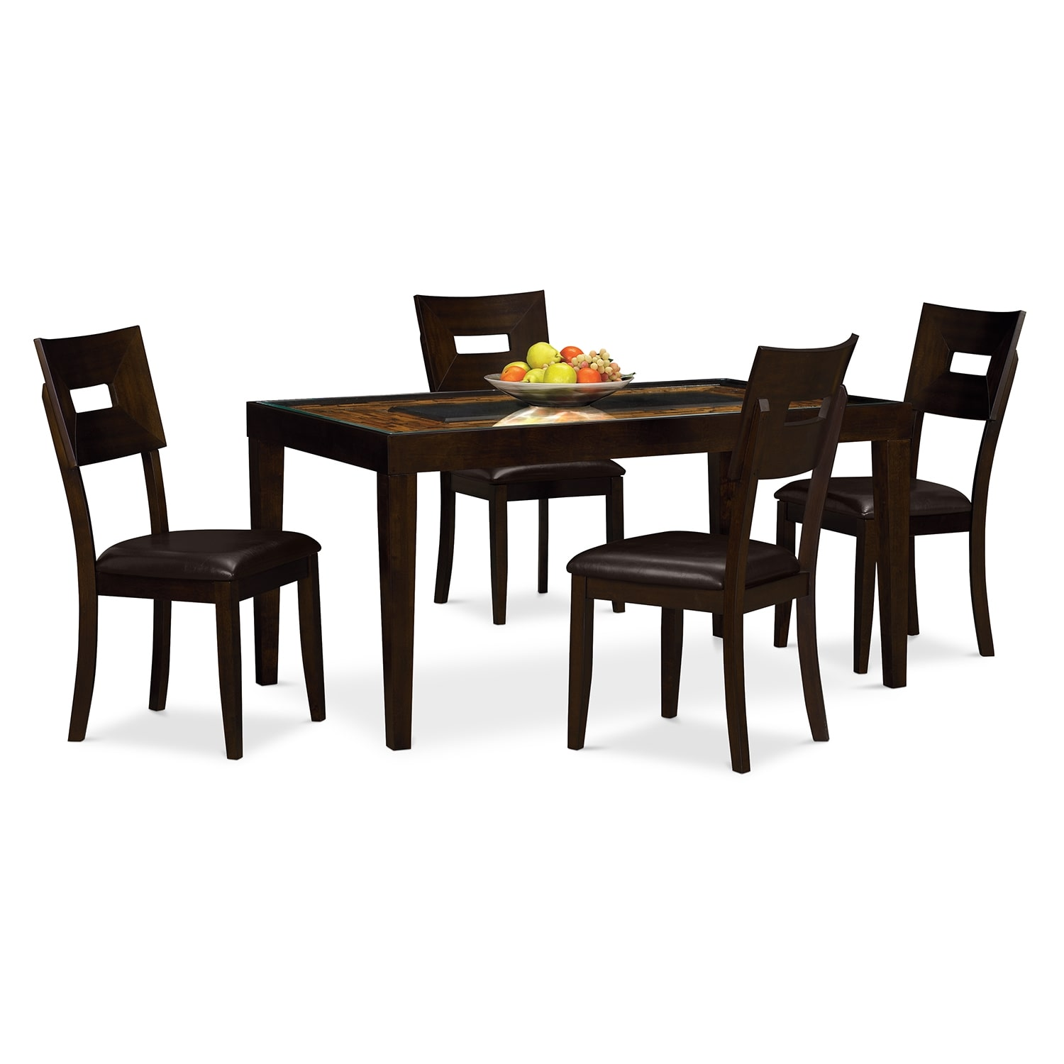 Cyprus dining room 5 pc dinette value city furniture for Dining room value city furniture