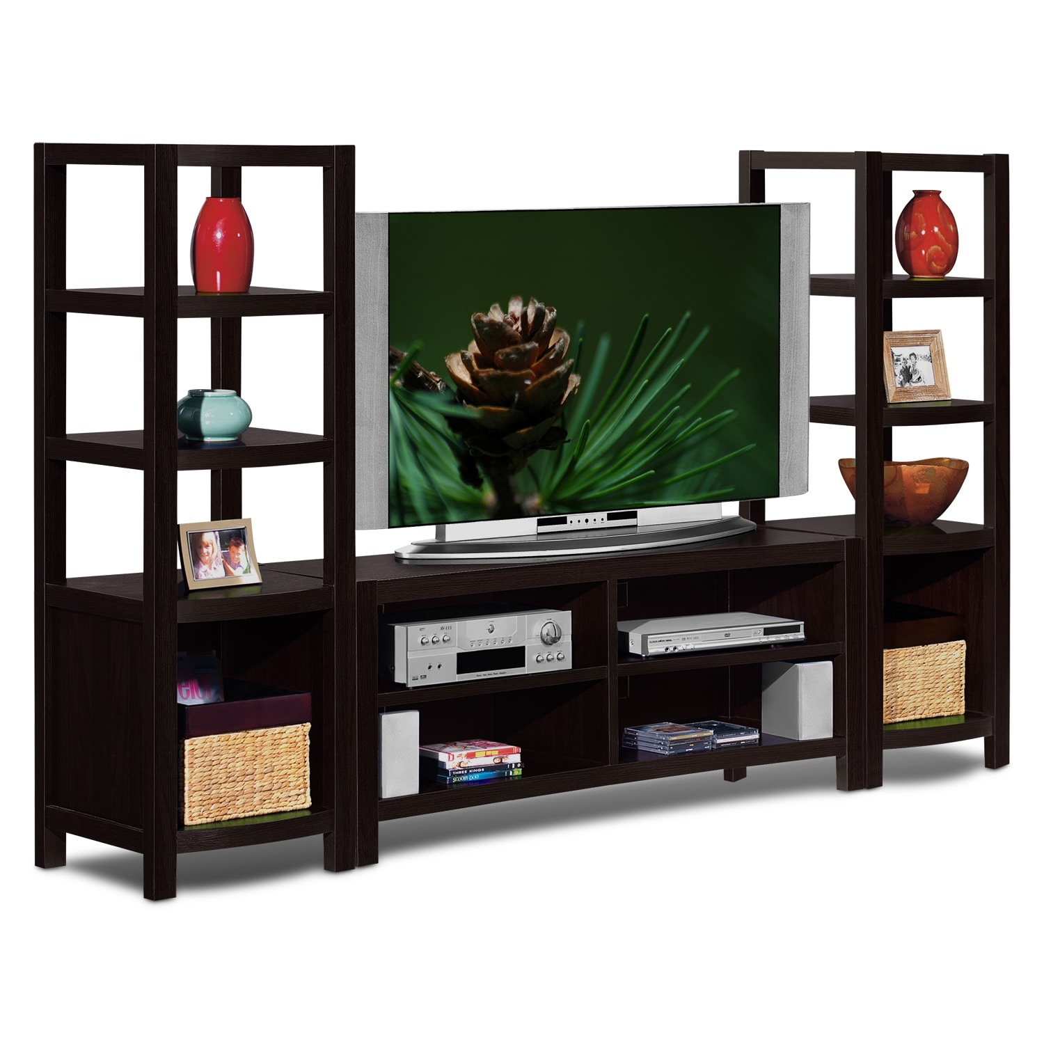 Townsend entertainment wall units 3 pc entertainment wall Wall unit furniture