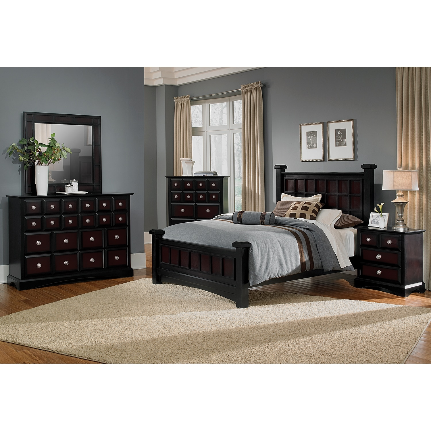 Winchester 5 Piece Queen Bedroom Set: Winchester 6-Piece Queen Bedroom Set