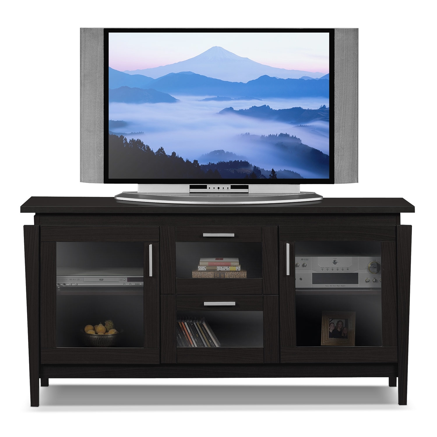 Saber 60 tv stand merlot value city furniture for Tv furniture