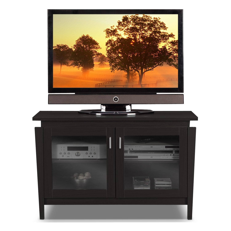 saber 48 tv stand merlot american signature furniture