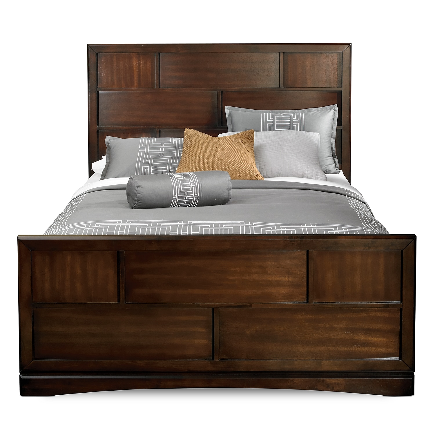 Toronto Queen Storage Bed Pecan Value City Furniture