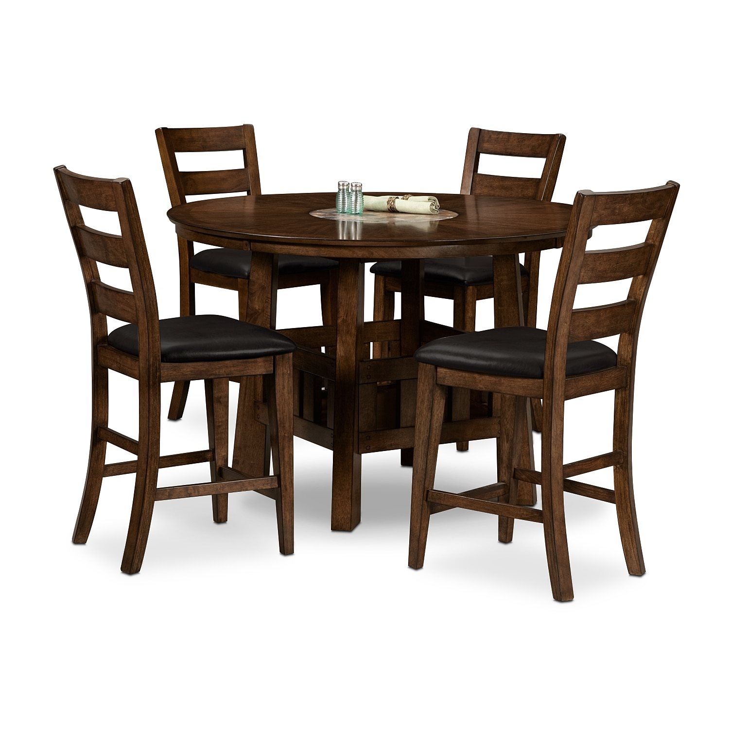 dining room furniture harbor pointe 5 pc counter height dinette