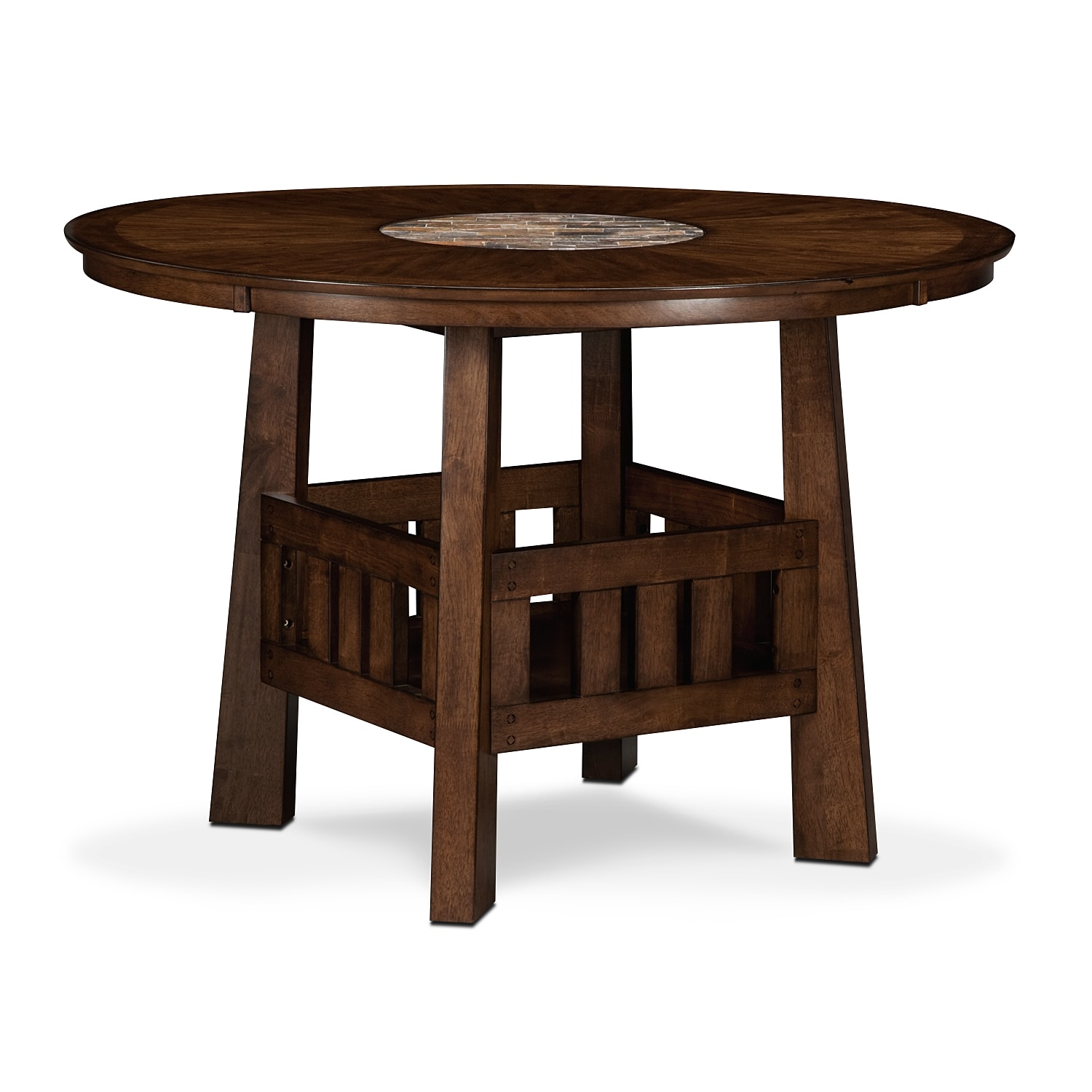 Dining Room Furniture - Harbor Pointe Counter-Height Table - Oak - Harbor Pointe Counter-Height Table - Oak American Signature