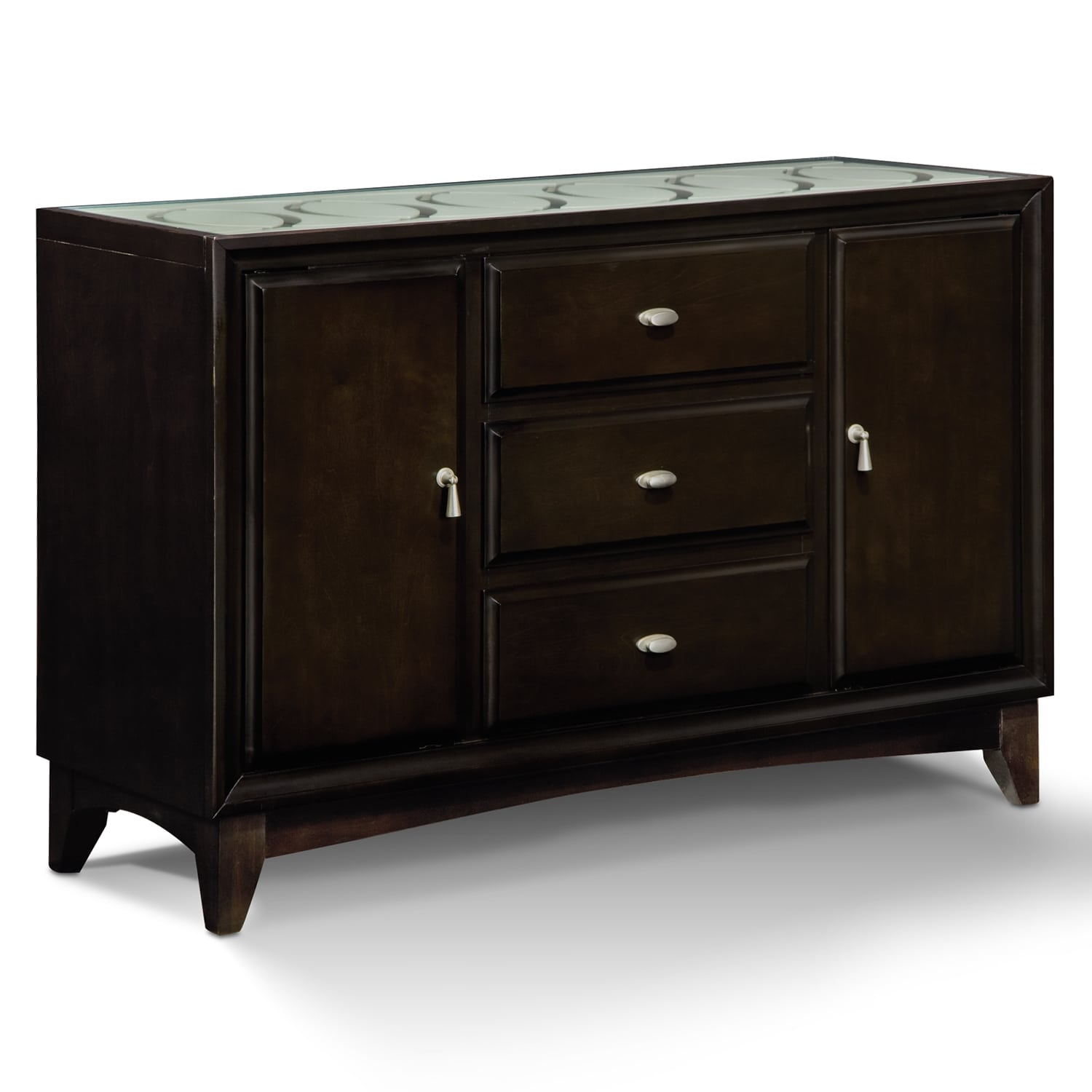 Cosmo sideboard merlot american signature furniture for Dining room buffet