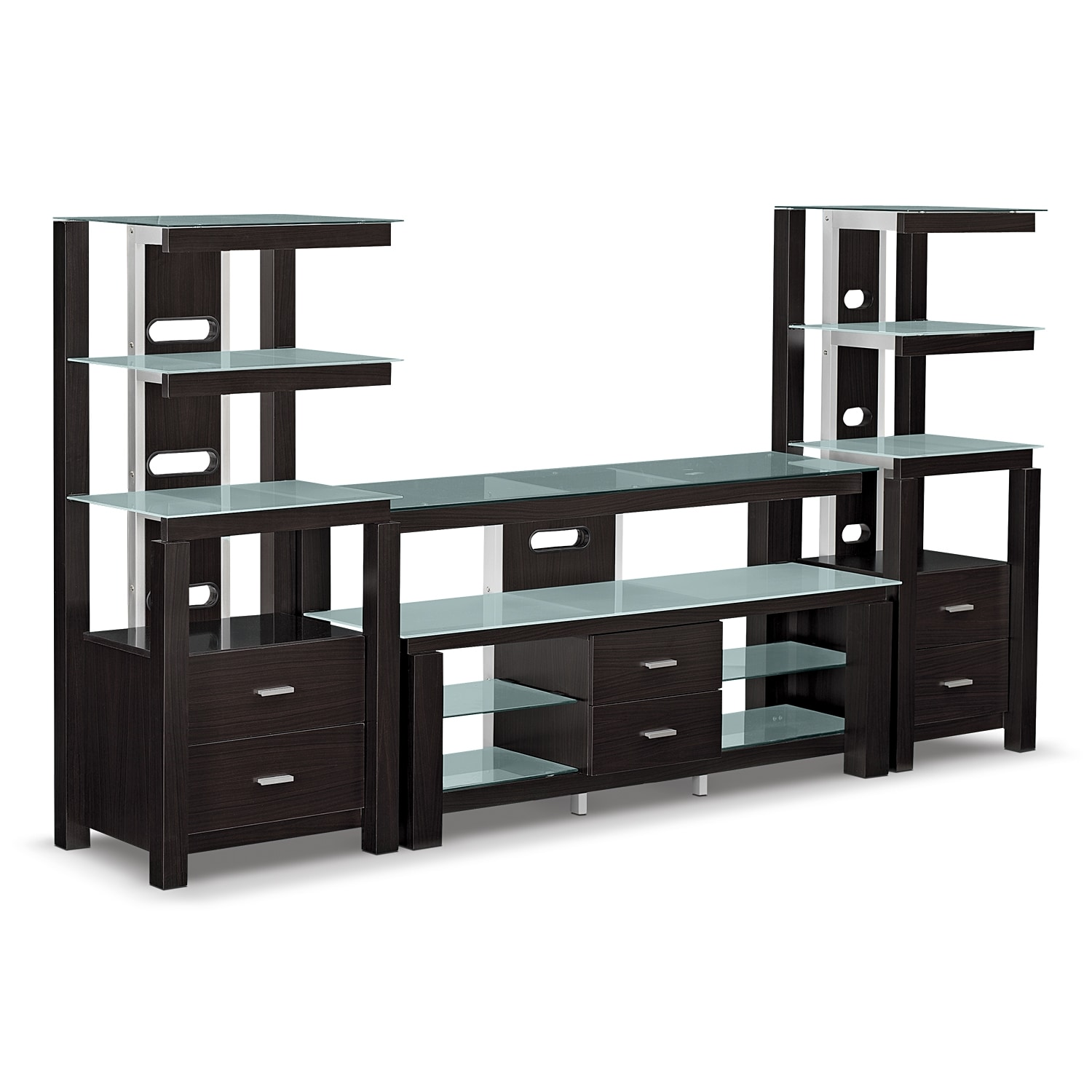 City Furniture Wall Units Union City 4 Pc Entertainment Wall Unit Value City Brentwood