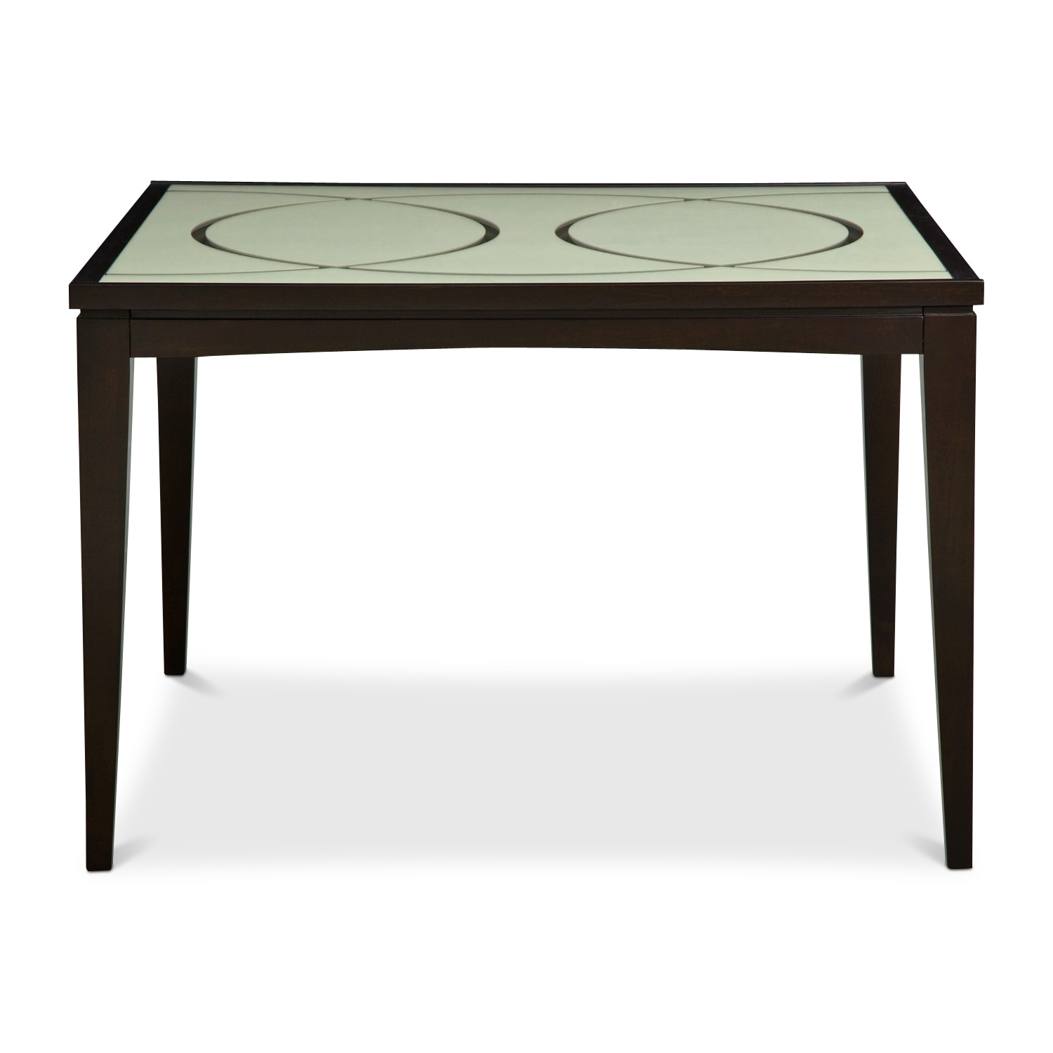 Cosmo counter height dining table merlot value city for Dining room tables 0 finance