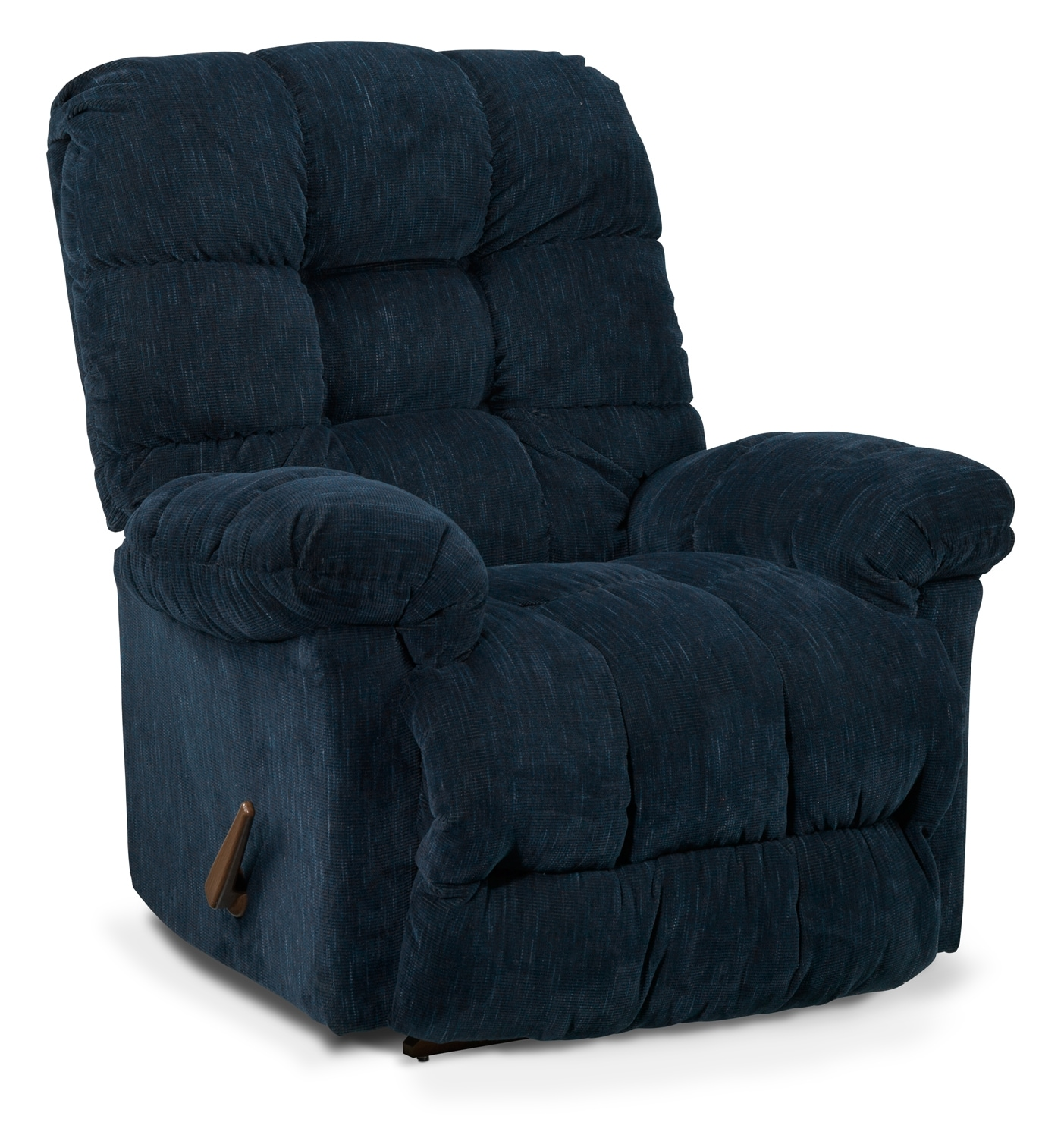 Living Room Furniture - Holly Rocker Recliner - Blue