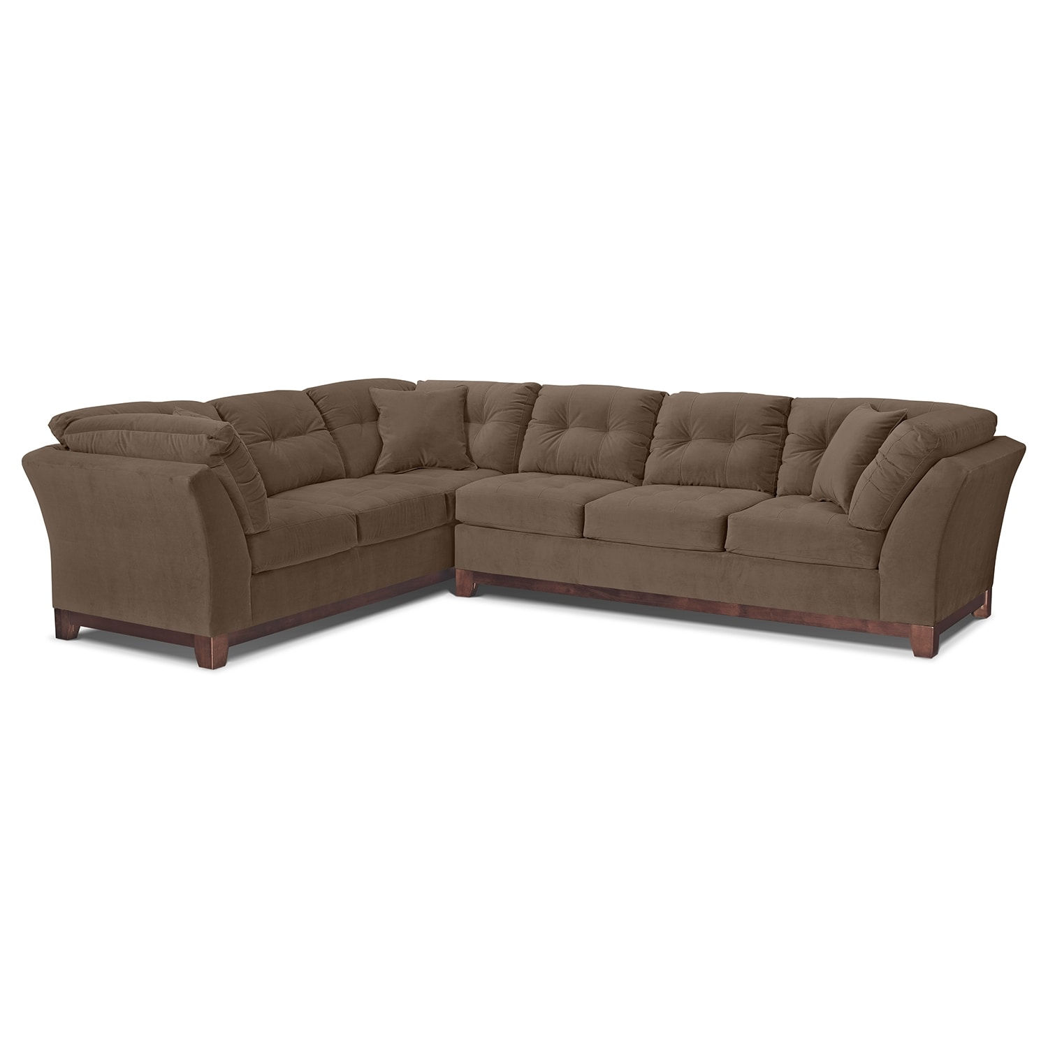 Solace Cocoa Ii Upholstery 2 Pc Sectional Value City Furniture