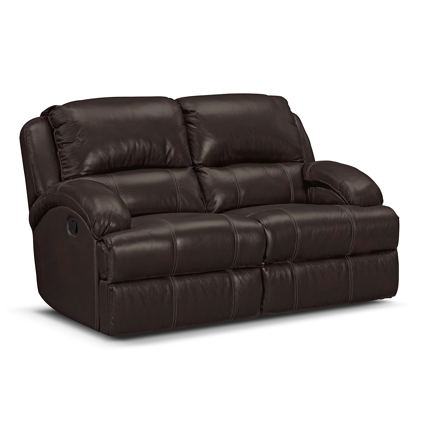 Document moved Leather reclining loveseat
