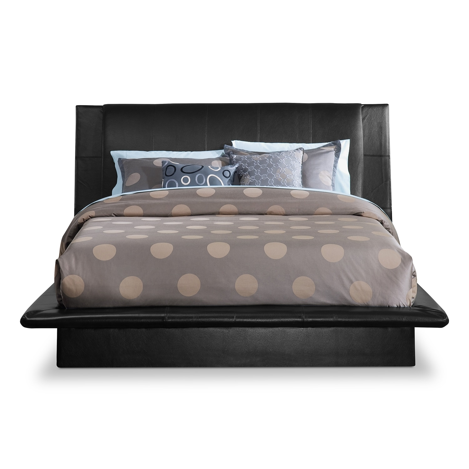 Dimora black queen bed american signature furniture for Bedroom set and mattress