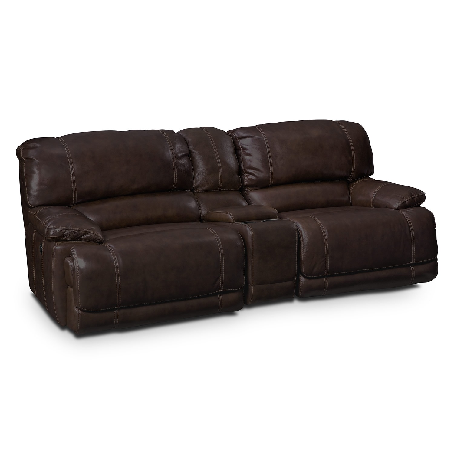 Power Reclining Leather Sofa Smileydotus