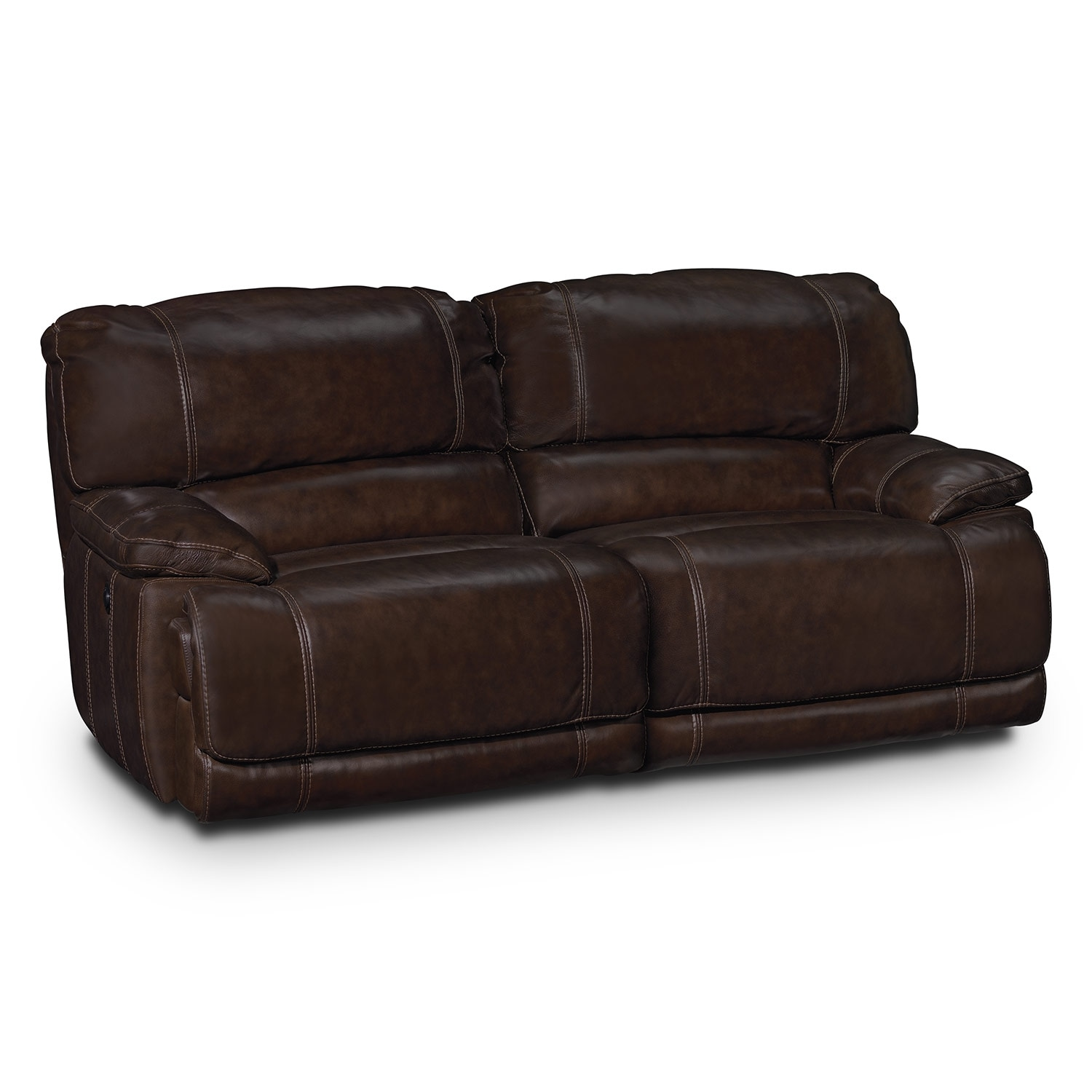 St Malo Leather 2 Pc Power Reclining Sofa Value City