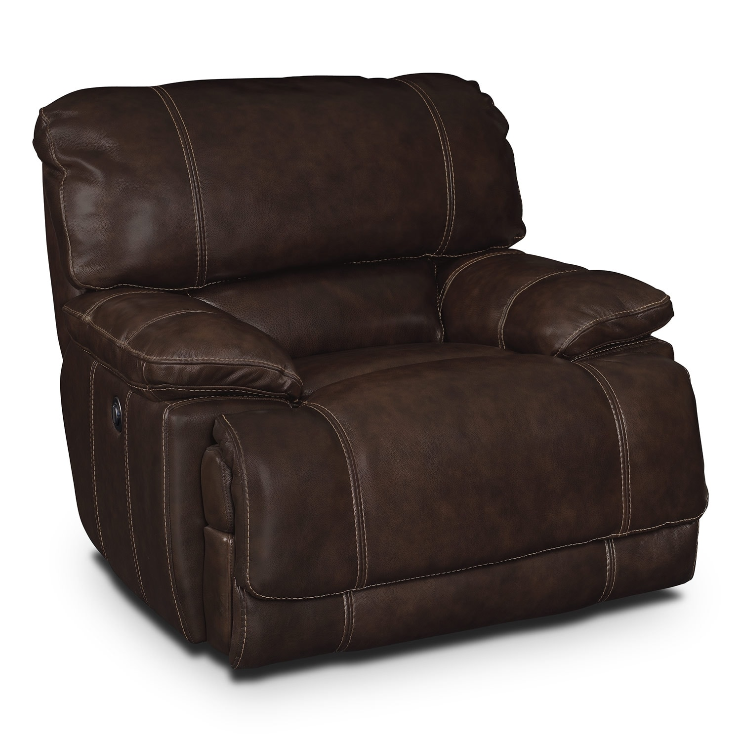 American Signature Furniture St Malo Leather Power Recliner