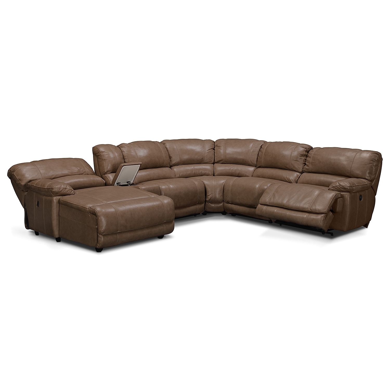st malo 6 piece power reclining sectional with left. Black Bedroom Furniture Sets. Home Design Ideas