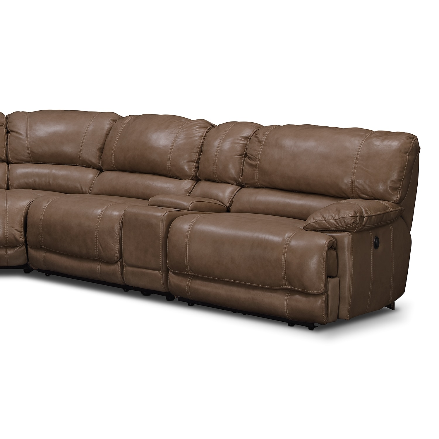 St malo 6 piece power reclining sectional with modular for Modular sectional sofa with recliner