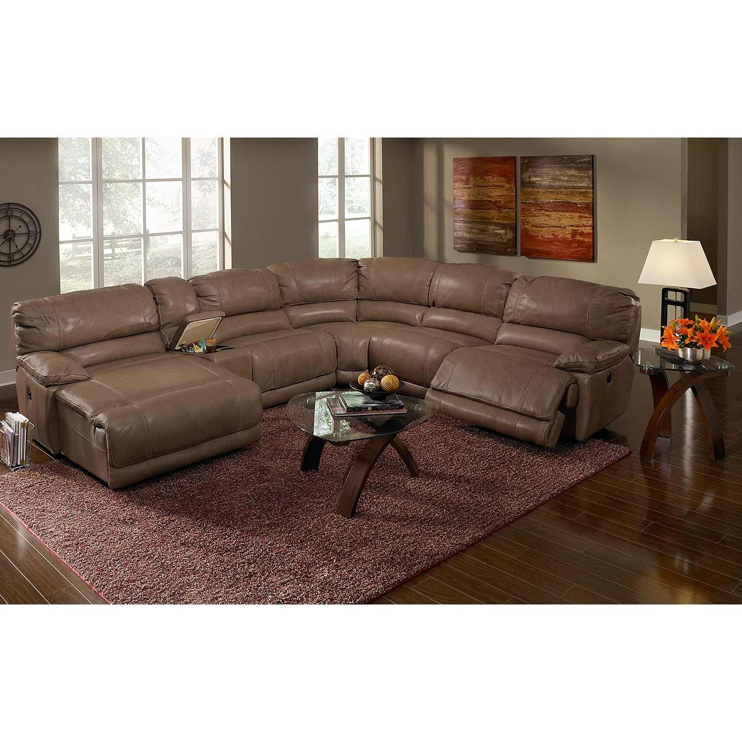 St malo ii 6 pc power reclining sectional reverse for 6 pc sectional living room
