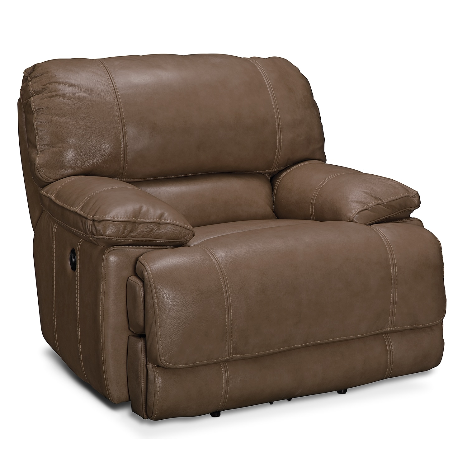 Living Room Furniture - Clinton Taupe Power Recliner