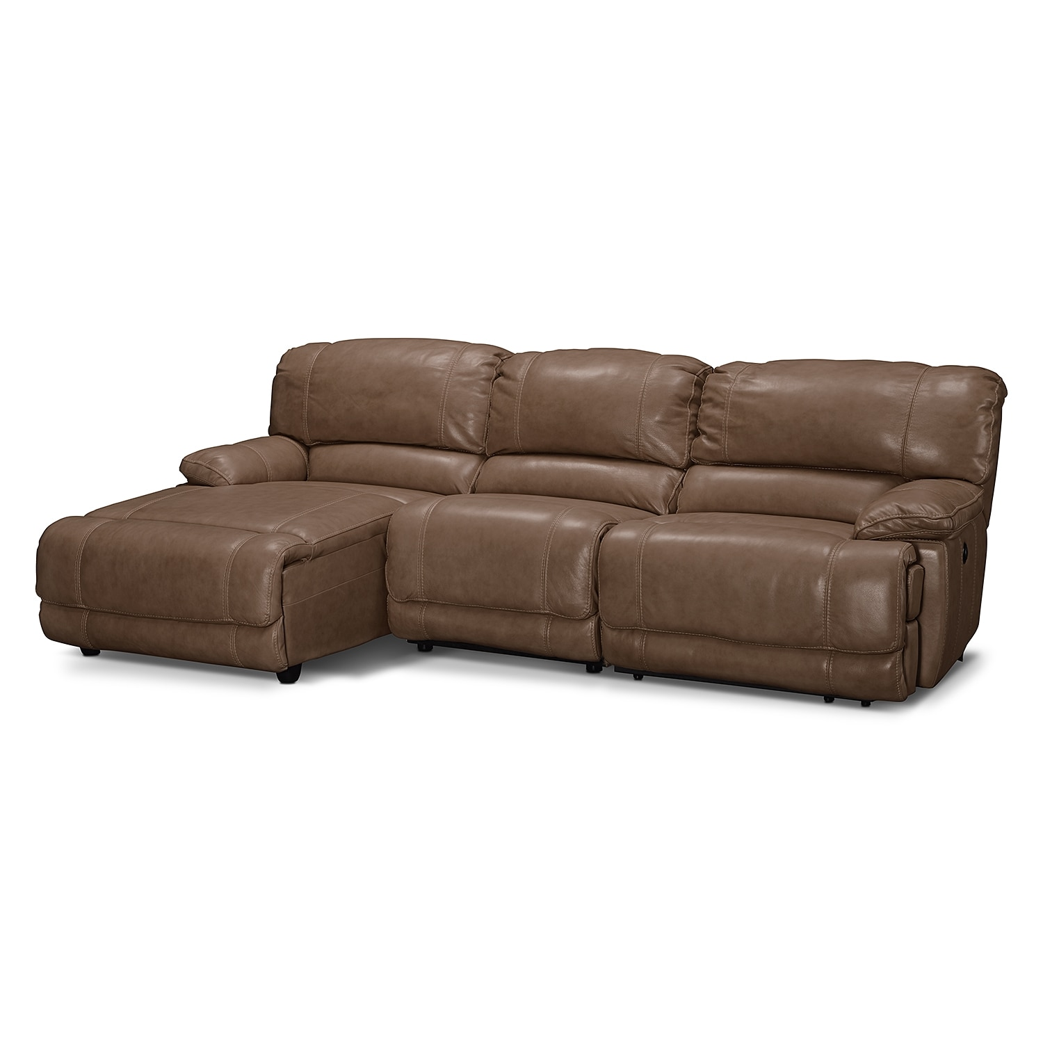 St malo 3 piece power reclining sectional with left for 3 piece sectional sofa with chaise