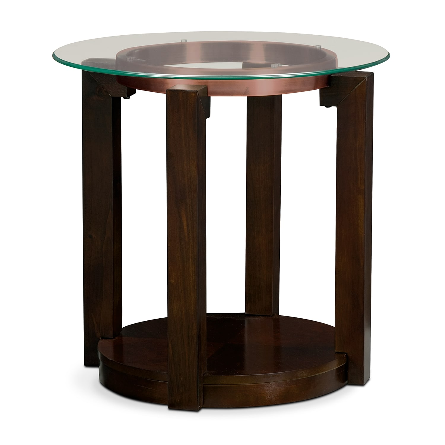 Auburn end table merlot value city furniture for Occasional furniture