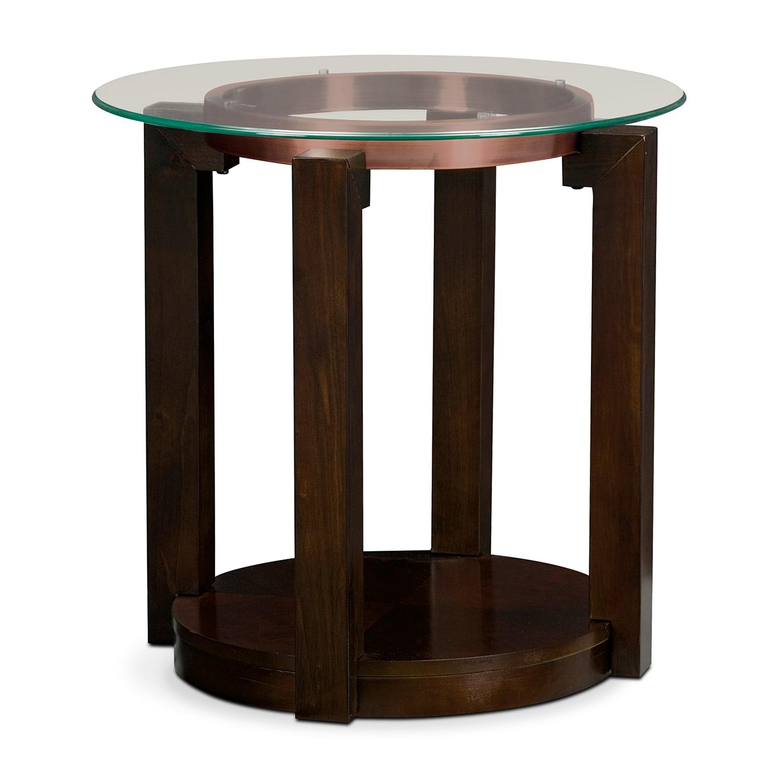 [Auburn End Table]
