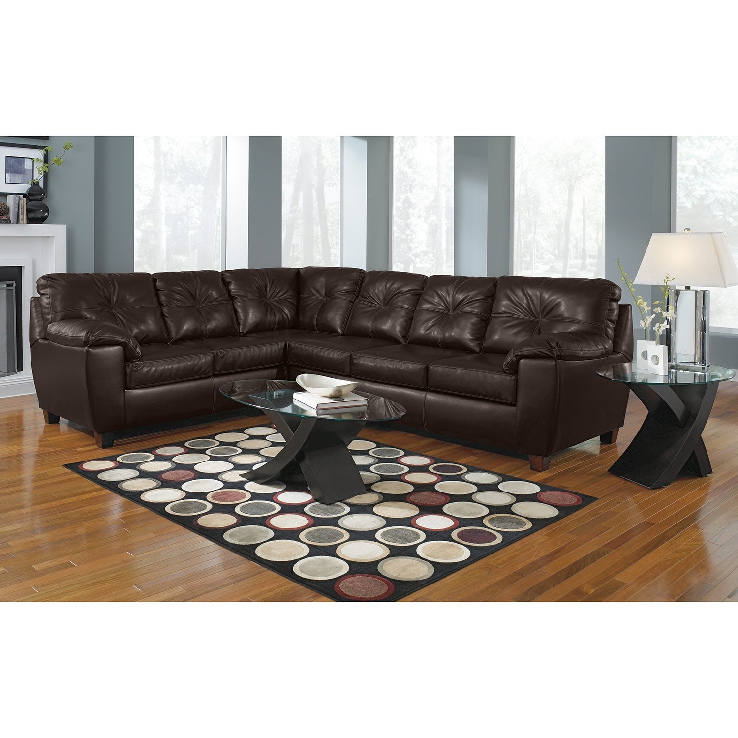 Value City Furniture Clearance Center: Rialto 2-Piece Sectional With Right-Facing Innerspring
