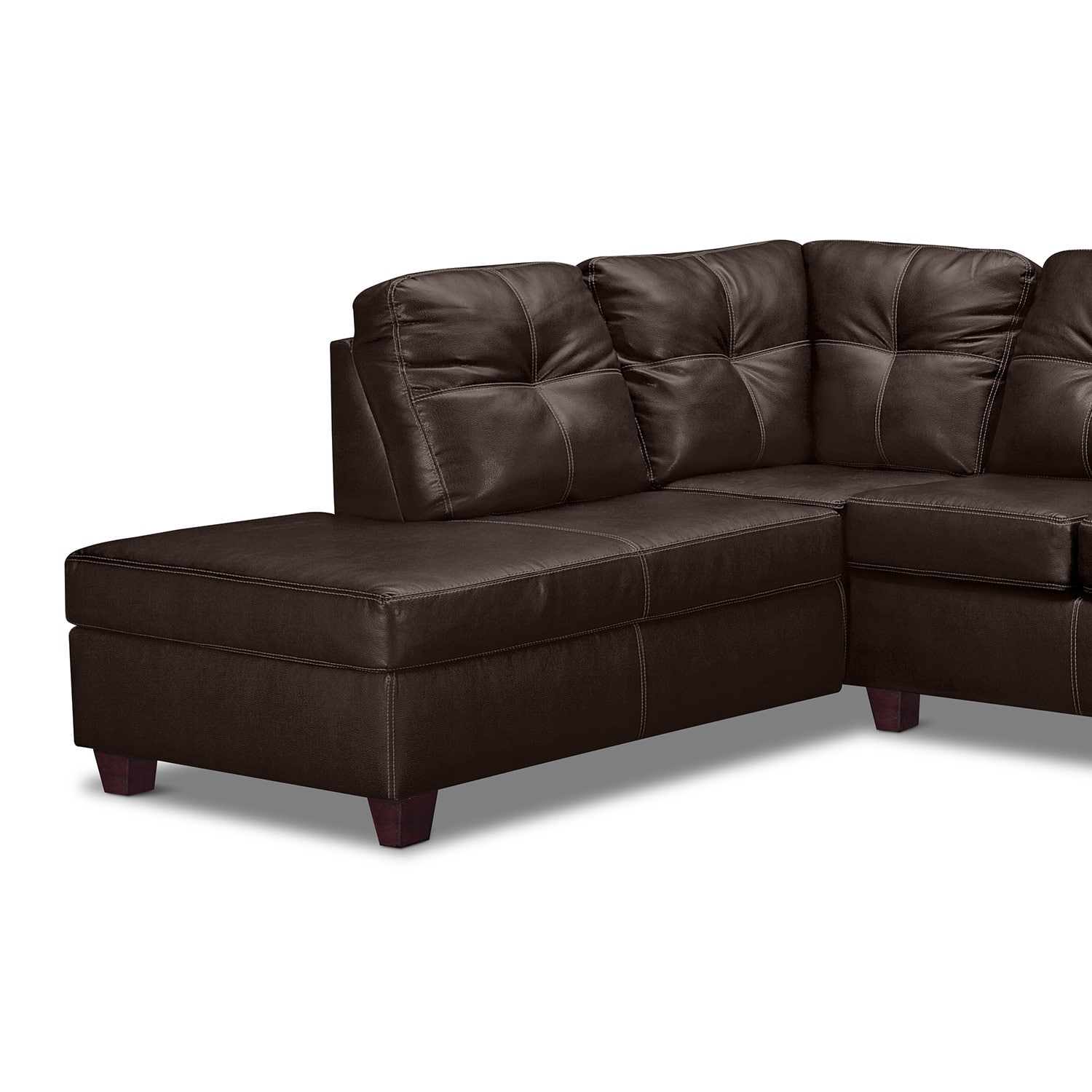 Rialto III Leather 2 Pc. Sectional with Chaise - Value City Furniture