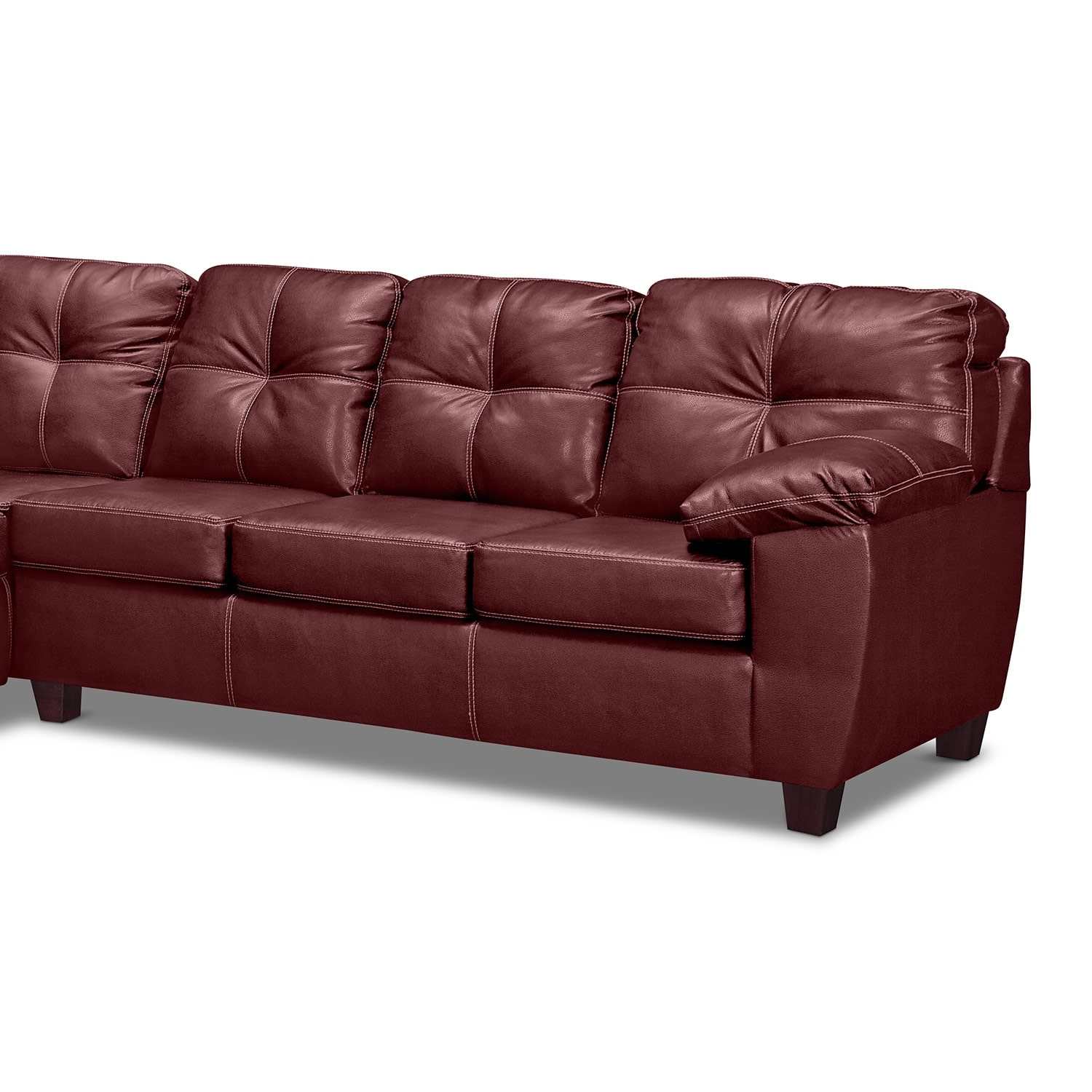 Rialto Ii Leather 2 Pc Sleeper Sectional With Chaise